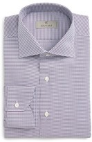 Canali Men's Regular Fit Houndstooth Dress Shirt