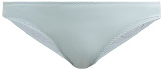 Stella McCartney Logo-plaque Low-rise Bikini Briefs - Womens - Light Blue