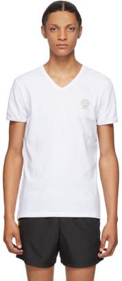 Versace Underwear White Medusa V-Neck T-Shirt