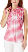 U.S. Polo Assn. Fuchsia Gingham Sleeveless Button-Up