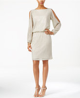 MSK Cold-Shoulder Embellished Blouson Dress
