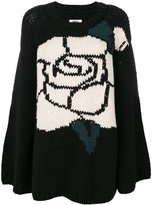 MM6 MAISON MARGIELA intarsia rose jumper - women - Acrylic/Wool - S