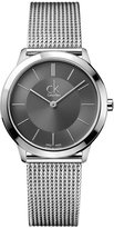 Calvin Klein Watch, Men's Swiss Minimal Stainless Steel Mesh Bracelet 35mm K3M22124