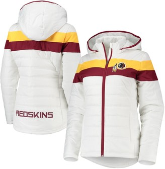 Redskins Women's G-III 4Her by Carl Banks White Washington Tie-Breaker Full-Zip Hoodie Jacket