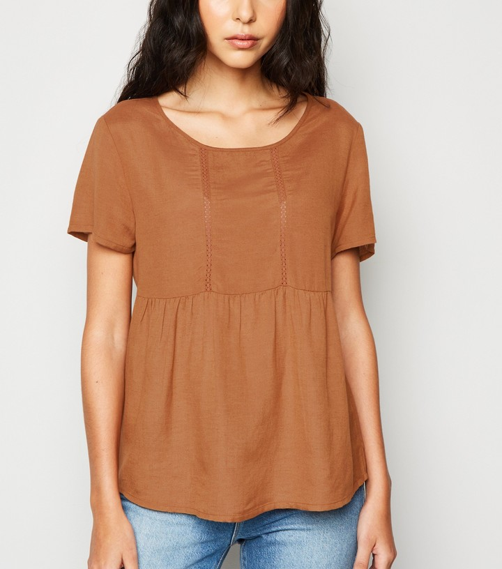 Thumbnail for your product : New Look JDY Lace Trim Smock Top