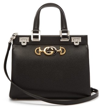 Gucci Zumi Small Top-handle Leather Bag - Womens - Black