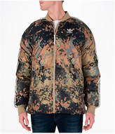 adidas Men's Originals Pharrell Williams HU Hiking Superstar Camo Reversible Jacket, Brown