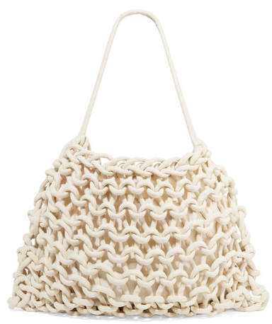 Alienina Alice Woven Cotton Tote - Cream