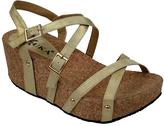 Gold Helena Wedge Sandal
