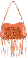Valentino Floral Leather Appliqué Bag