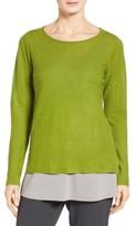 Eileen Fisher Women's Bateau Neck Organic Linen Sweater