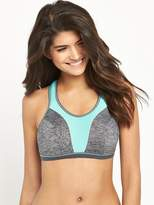Freya Force Crop Top Soft Cup Sports Bra With Moulded Inner - Carbon