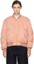 Acne Studios Pink Clea Bomber Jacket