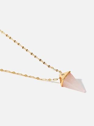 Accessorize Z Healing Stone Pyramid Pendant - Gold