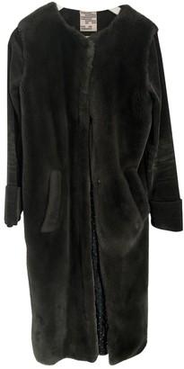 Baum und Pferdgarten Green Faux fur Coat for Women
