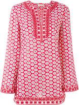Tory Burch floral pattern kaftan - women - Cotton/Polyester - 10