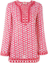 Tory Burch floral pattern kaftan - women - Cotton/Polyester - 8