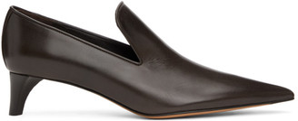 Jil Sander Brown Leather Pumps