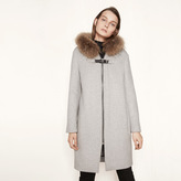 Maje Mid-length coat with fur detailing