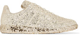 Maison Margiela Glittered Leather Sneakers - Gold