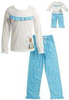 Dollie & Me Girls 4-14 Snowflake Dog Pajama Set