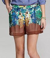 High-Waisted Printed Shorts