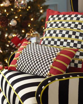 Mackenzie Childs Holiday Regimental Lumbar Pillow