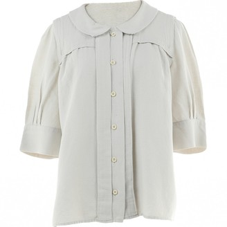 Chloé Grey Linen Top for Women