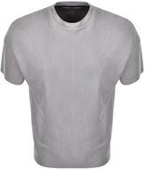Religion Oversized Captive Suedette T Shirt Grey