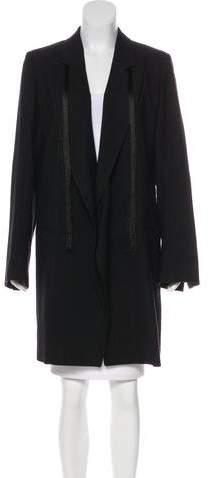 Ann Demeulemeester Fringe Wool Coat w/ Tags