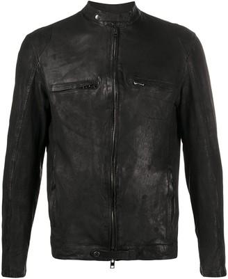 Salvatore Santoro Leather Biker Jacket