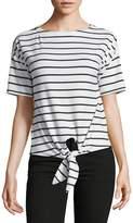 Alison Andrews Women's Striped Tie-Front Tee