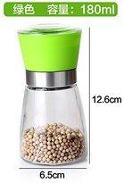 lpkone-Creative pepper pepper grinder kitchen apothecary jar glass Spice jar ceramic core manual pepper grinder