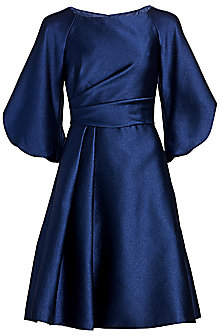 Theia Women's Off-the-Shoulder Puff-Sleeve Fit-&-Flare Dress