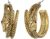 Betsey Johnson Gold Snake Hoop Earrings
