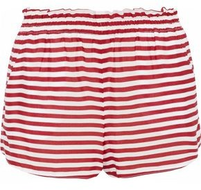 RED Valentino Striped Silk Crepe De Chine Shorts