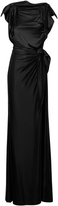 Burberry Side Tie Stretch Gown