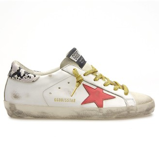 Golden Goose Superstar Sneaker in Ice/White/Red/Rock