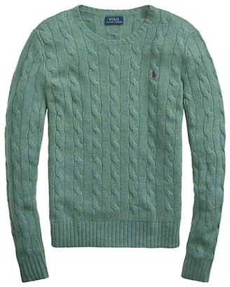 Polo Ralph Lauren Julianna Crewneck Cable Knit Sweater