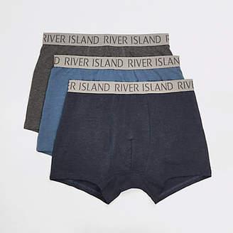 River Island Blue RI trunk 3 pack