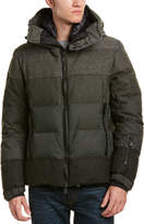 Moncler Crevoux Quilted Wool Down Coat