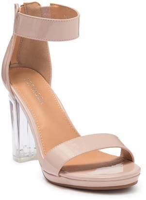 Top Moda Davita Clear Heel Sandal