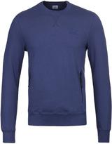 Cp Company Royal Blue Crew Neck Pocket Sweatshirt