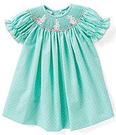 Edgehill Collection Baby Girls 3-6 Months Easter Bunny Embroidered Dress