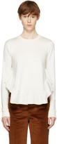 Stella McCartney Ivory Frills Crewneck Sweatshirt