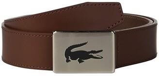 Lacoste Classic Big Croc Buckle Belt (Narcissus/Navy Blue/Turkish Delight/Lapwing) Men's Belts