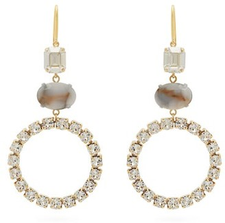 Isabel Marant Strass-embellished Hoop Drop Earrings - White