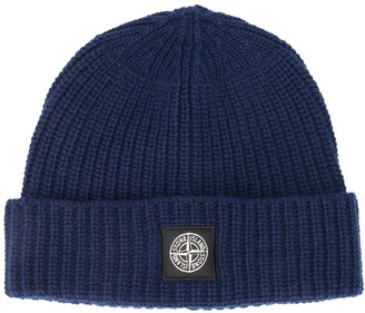Stone Island Ribbed Wool Beanie Hat