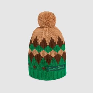 Gucci Children's geometric wool hat