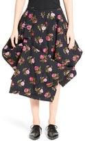 Comme des Garcons Women's Buckle Detail Draped Wool Skirt